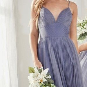 Smokey Blue Bridesmaid Prom Party Dress Gown CD184